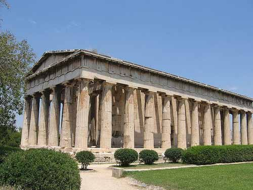 The Agora Athens Greece The Mystai Of Eleusis Would Meet In The