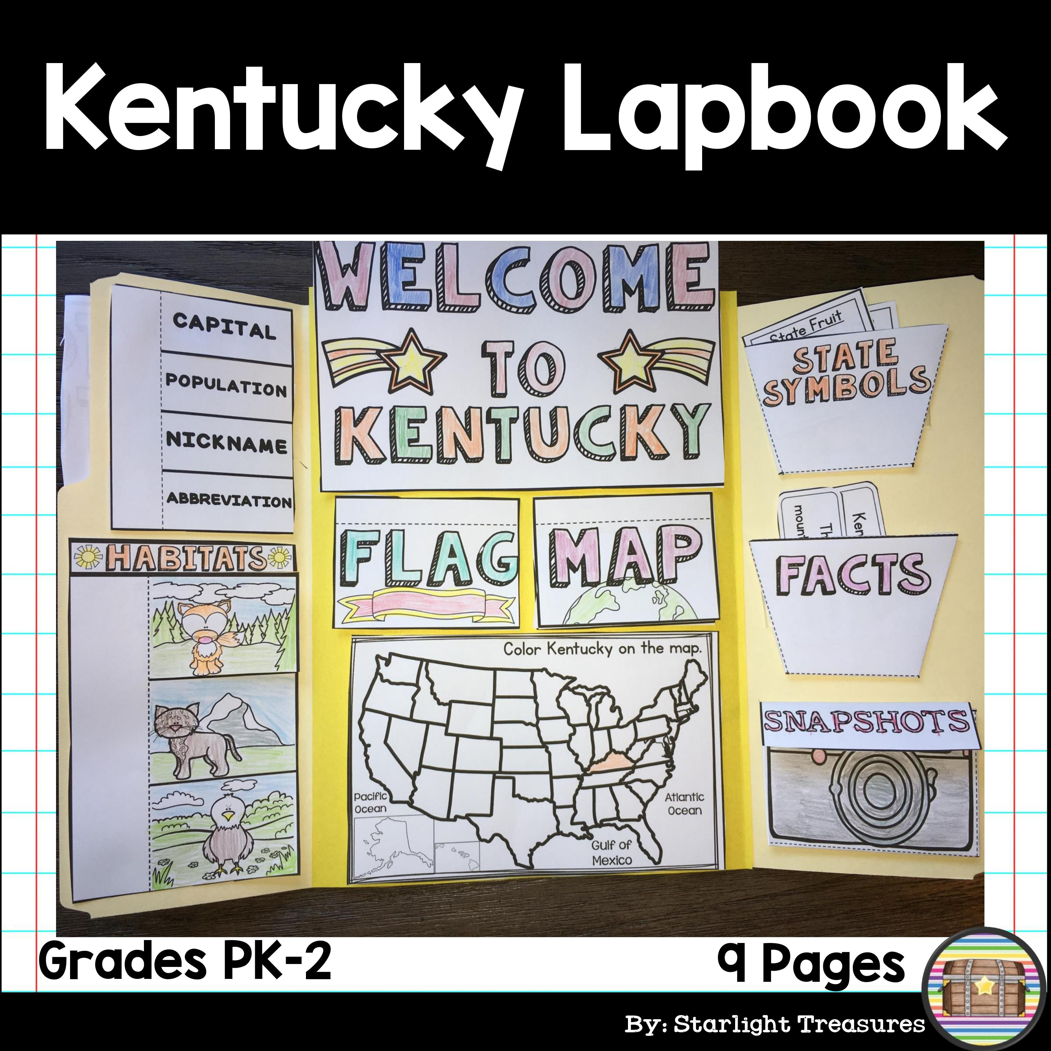 Kentucky Lapbook For Early Learners