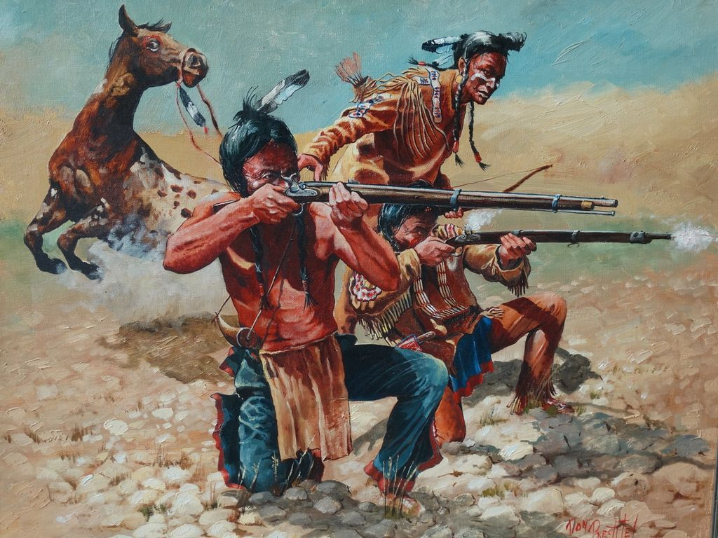 Quot Taking Aim Quot Original Large Oil Painting Don Pretchel