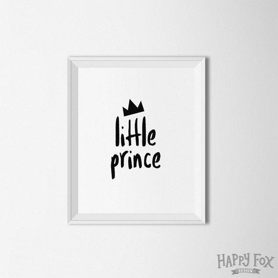 Little Prince printable nursery art print by HappyFoxDesign