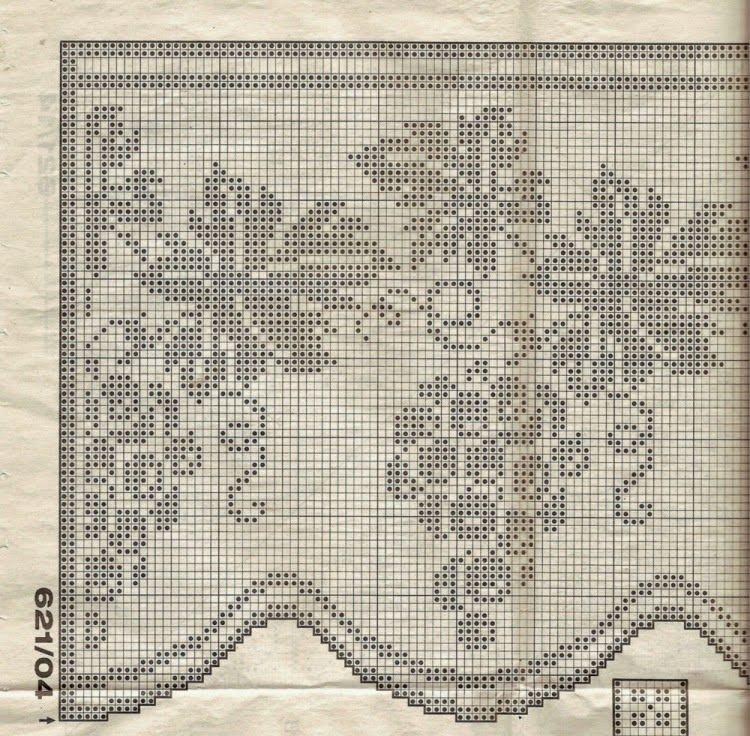 Lo spazio di lilla a gentile richiesta schemi di bordi for Schemi bordure uncinetto filet