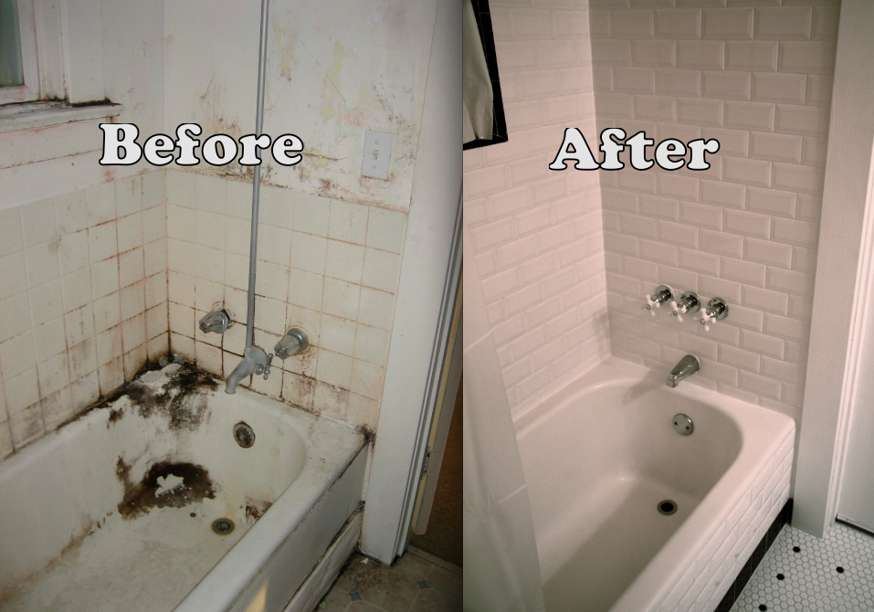 black and white bathroom remodel leaving the ivory tower