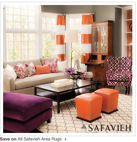 I Actually Like This Orange And Purple Room Does That