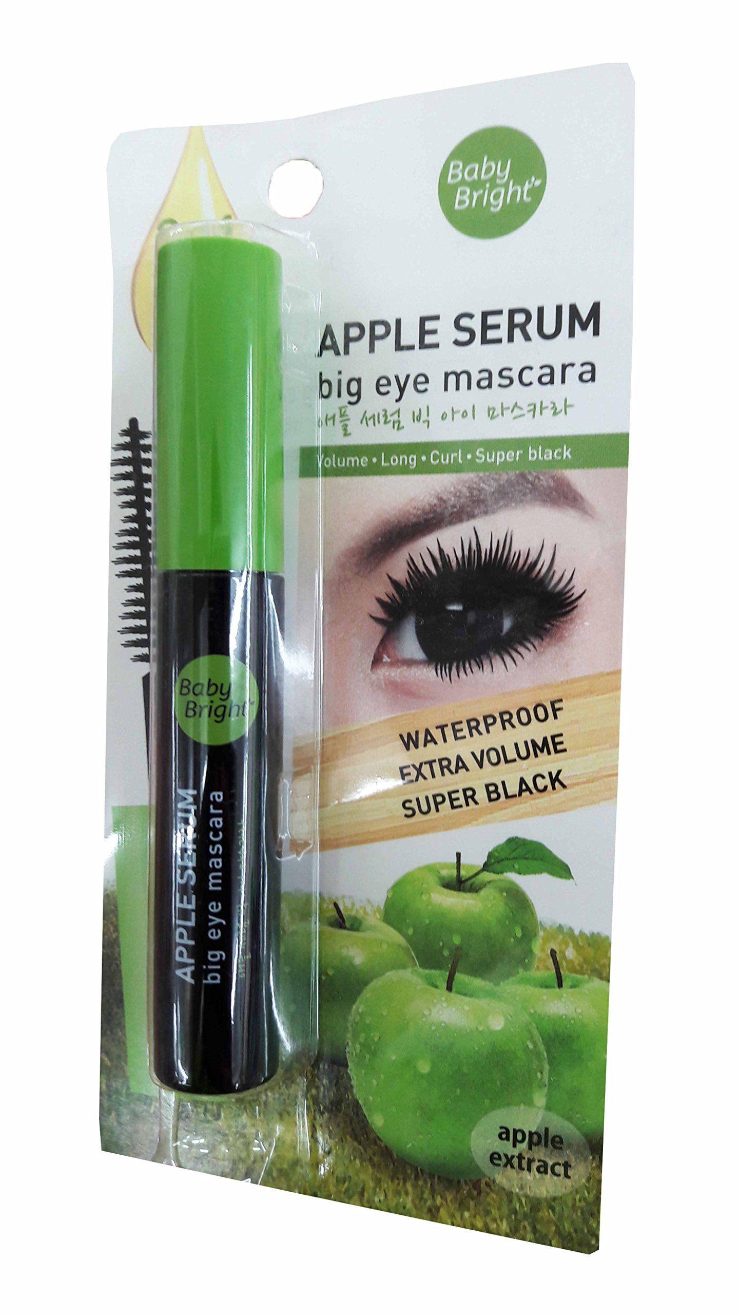 2 packs of Baby Bright Apple Serum Big Eye Mascara