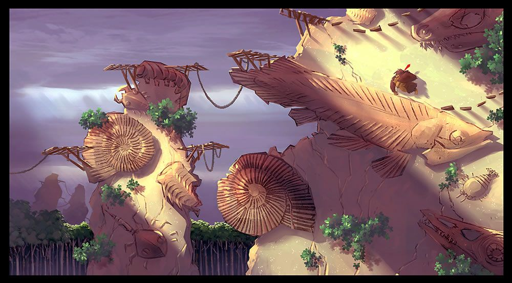"""Donkey Kong Country Returns"" Concept Art by Sammy Hall from Retro Studios."