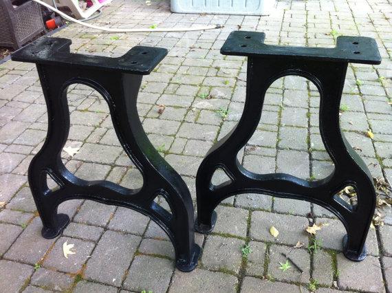 28 Tall Industrial Cast Iron Table Legs Vintage Machine Age Style Cast Iron Table Legs Iron Table Legs Cast Iron Table Base