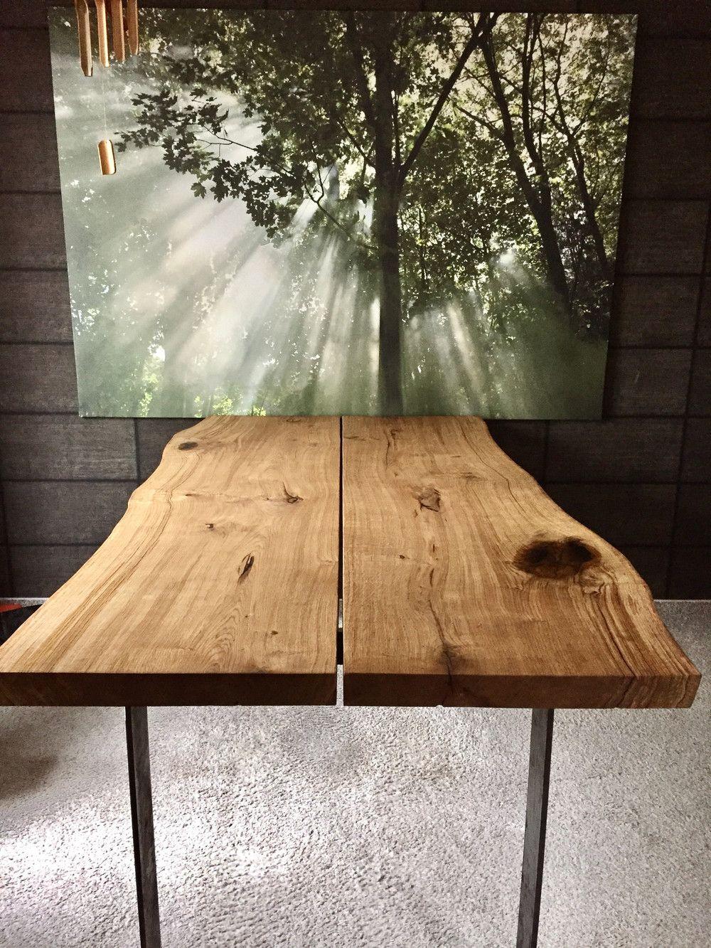 Esstische Eichentisch Baumkante Ein Designerstuck Von Dk Moebelschmiede Bei Dawanda Eichentisch Esstisch Eiche Holztisch Eiche