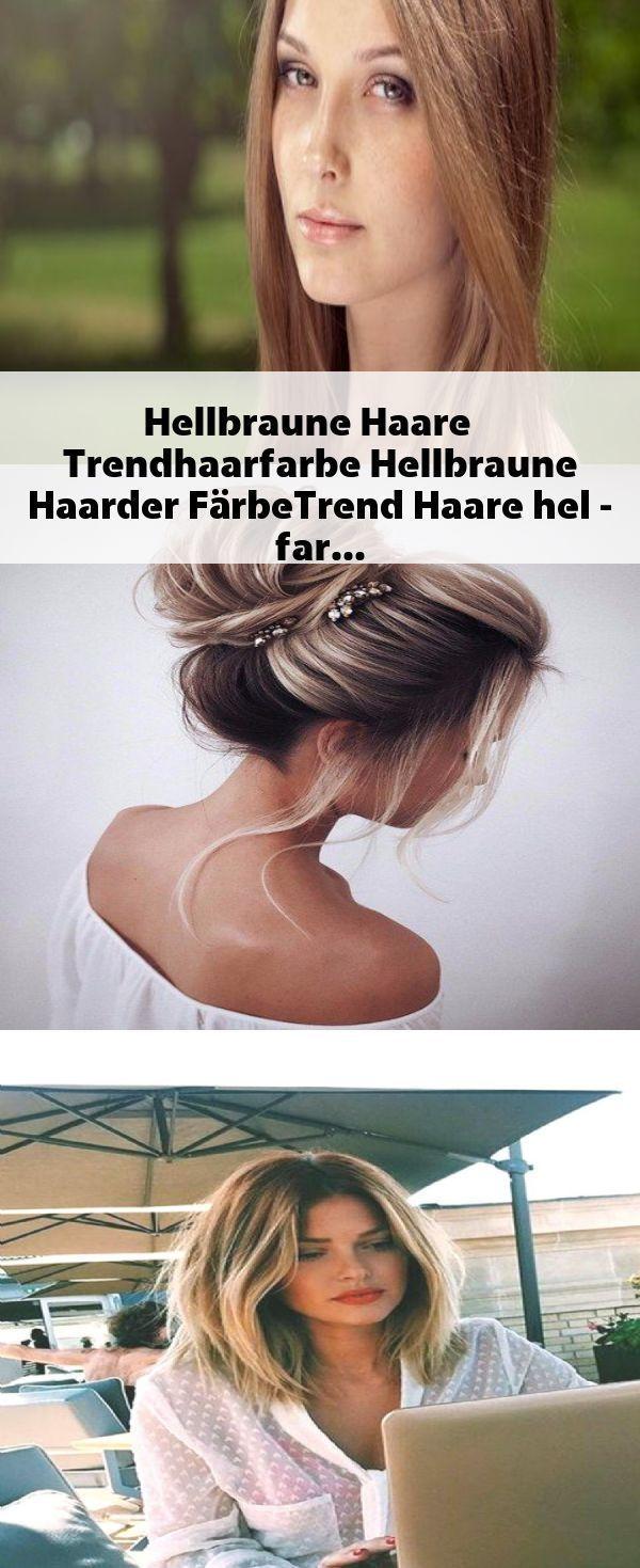 Photo of Hellbraunes Haar Trendige Haarfarbe hellbraun