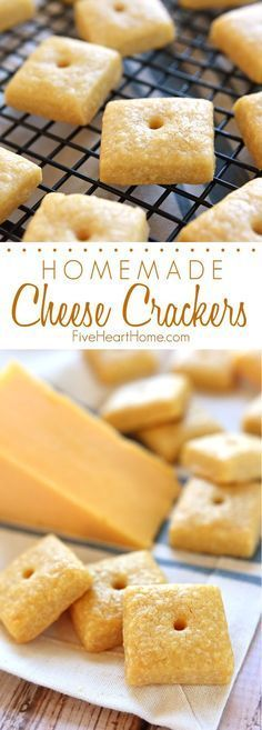 Homemade Cheese Crackers ~ tasty and all-natural, these savory crackers are not ... -