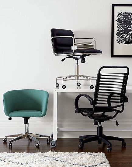 Teal On Wheels With Its Sheltering Curves And Low Profile Dapper Swivel Reworks The Midcentury Angle Desi Best Office Chair Modern Office Chair Office Chair