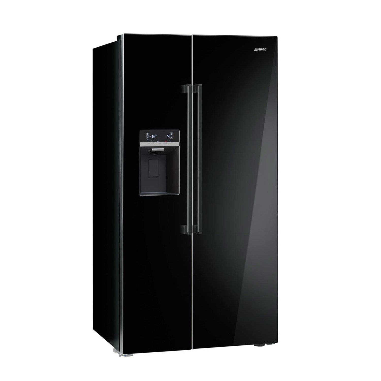 Smeg SBS63NED Black American Style Fridge Freezer | something to ...