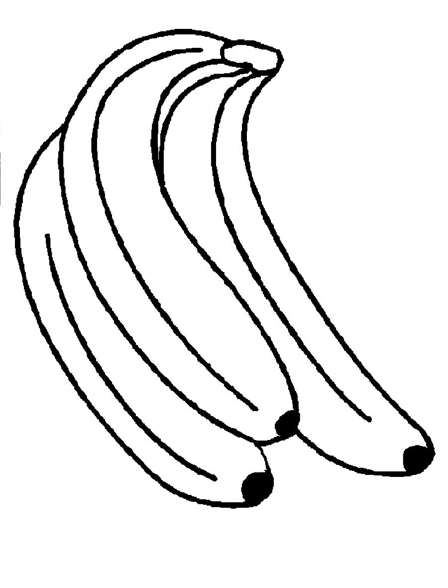 monkey coloring pages | ... and Print Banana The Favorite Yellow ...