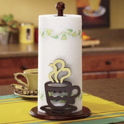 Coffee Paper Towel Holder Themed Kitchen Decor Cafe Decorating