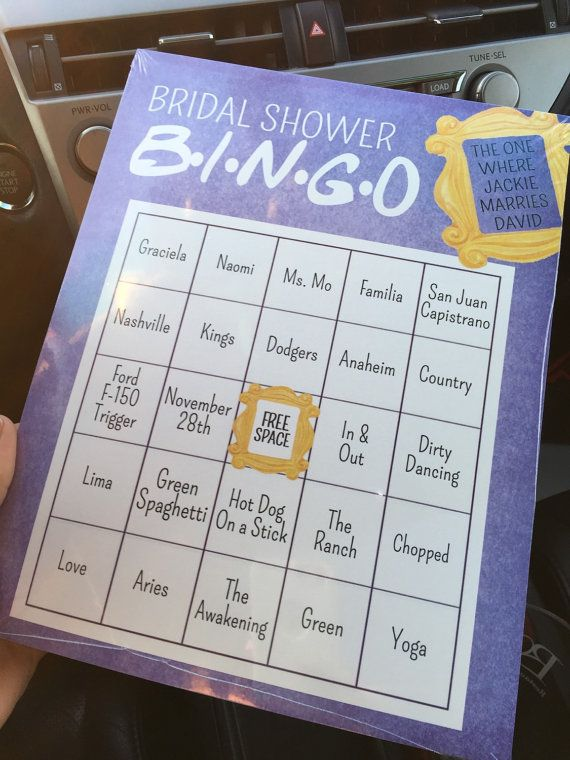 friends tv show trivia bridal shower game by littlepebblepaper