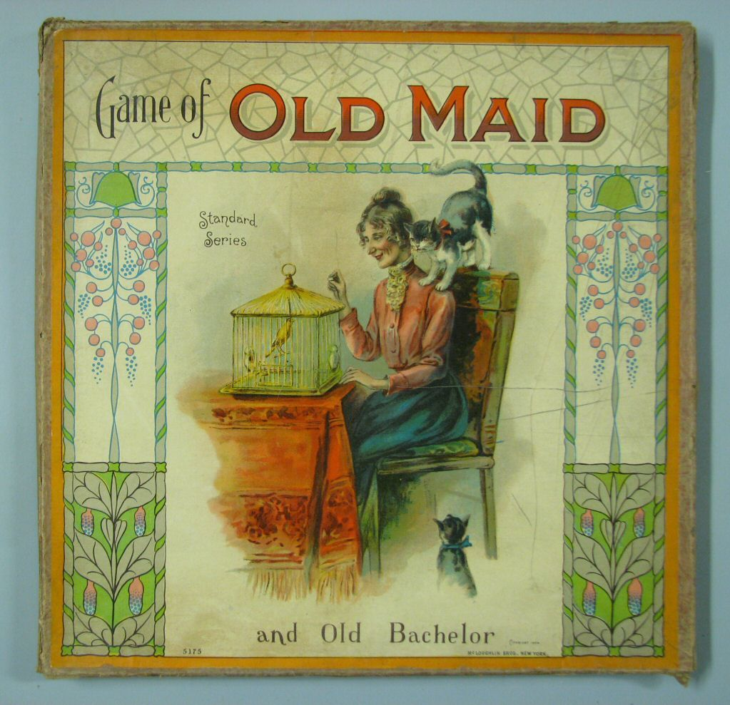 Clean vintage old maid games fun idea for display and