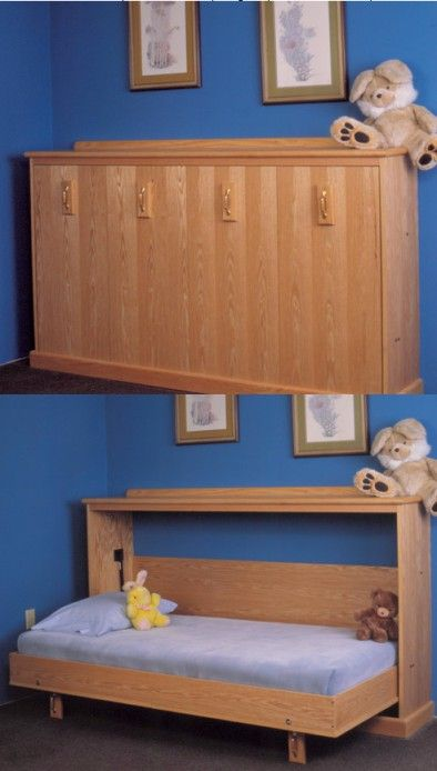 Side Mount Full Size Murphy Bed Diy With Fold Down Bed