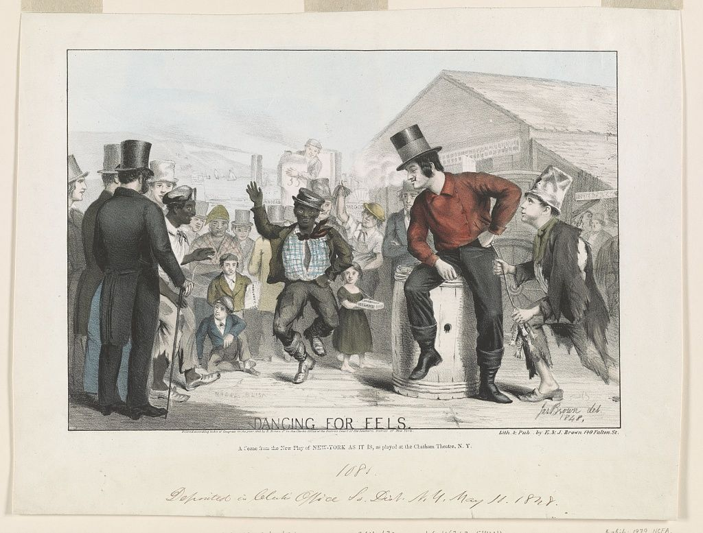 Dancing For Eels A Scene From The New Play Of New York As It Is As Played At The Chatham Theatre N Y Jas Brown Del 1 Scene Lithograph 19th Century Men