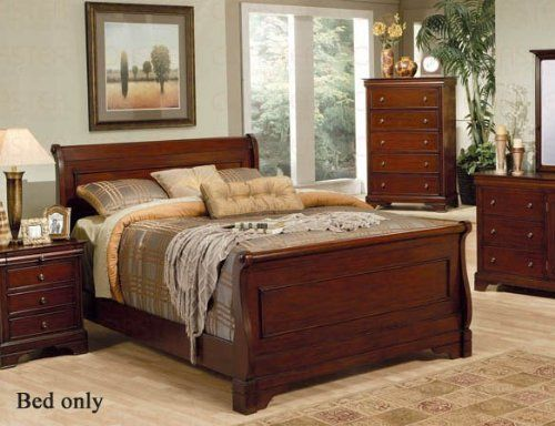 California King Size Sleigh Bed Louis Philippe Style In