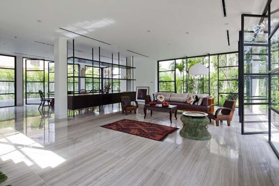 Belle maison rénovée au design intérieur moderne et si minimaliste ...