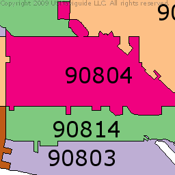 90804 Zip Code Map.Long Beach California Zip Code Boundary Map Ca Home Health