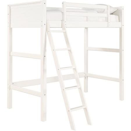 Functionality Your Zone Zzz Collection Loft Bed Versatile Solid Panel Headboard And Footboard With Sturdy Pine Wo Loft Bed Loft Bunk Beds White Wood Furniture