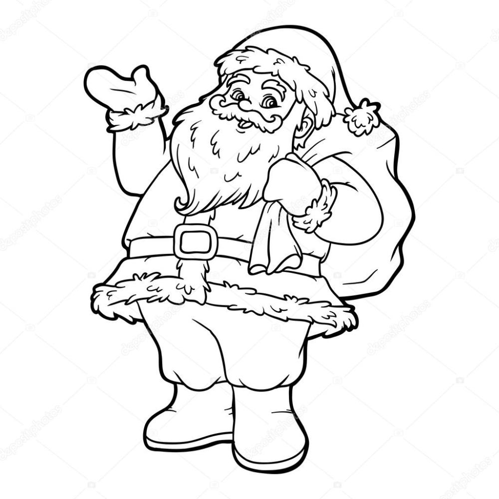 Kolorowanka Swiety Mikolaj Grafika Wektorowa Coloring Books Crayola Coloring Pages Christmas Coloring Books