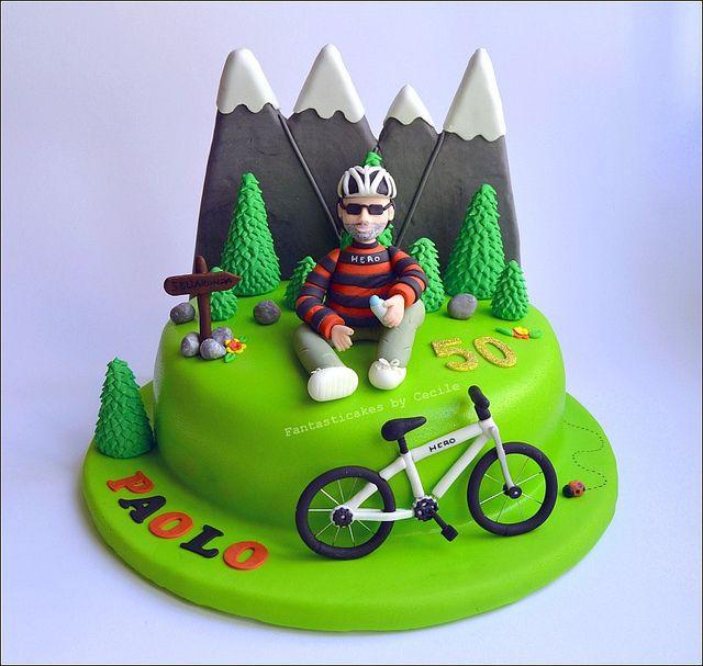 Mountain Bike Cake With Images Mountain Bike Cake Cycling