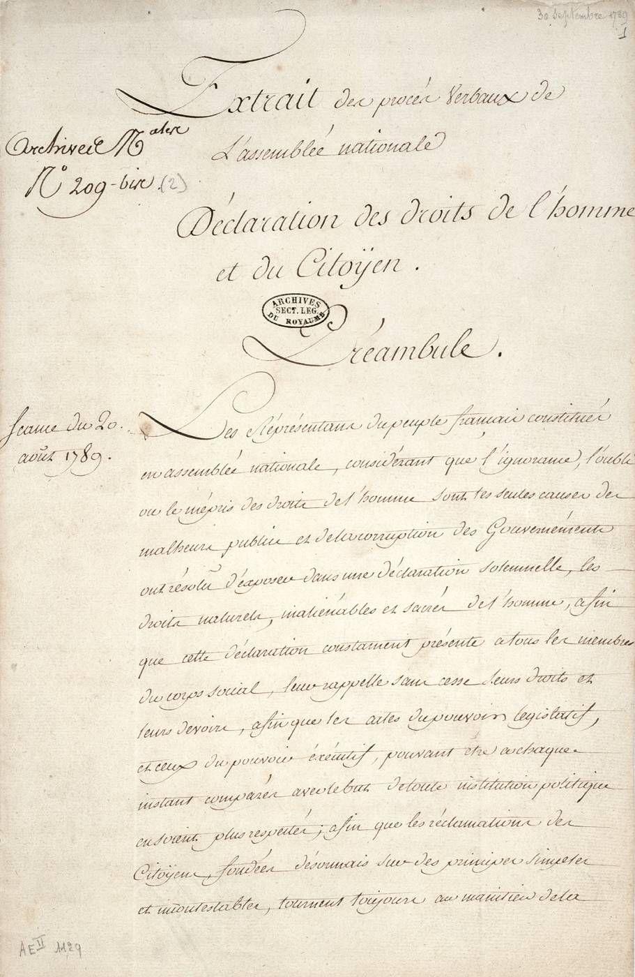 La Declaration Des Droits De L Homme Et Du Citoyen Histoire Et Analyse D Images Et Oeuvres Droits De L Homme Revolution Francaise Citoyen