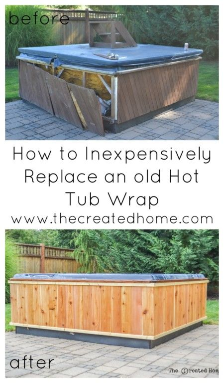 Beautiful How To Repair A Hot Tub Frame And Build A DIY Wrap. Our Hot Tub Was Looking  Sad And Neglected, So We Repaired And Build A New Shell For It Over The ...