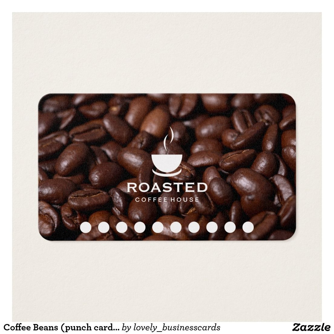 Coffee Beans Punch Card Variation Zazzle Com In 2020 Coffee Beans Coffee Cards Coffee Roasting