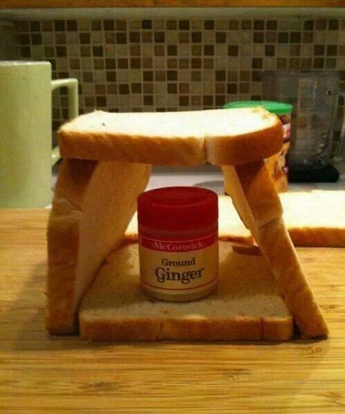 It's a gingerbread house!