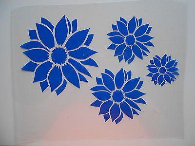 Schablone Stencil 4 Blumen Fur Textil Airbrush Wanddeko U V M Auf