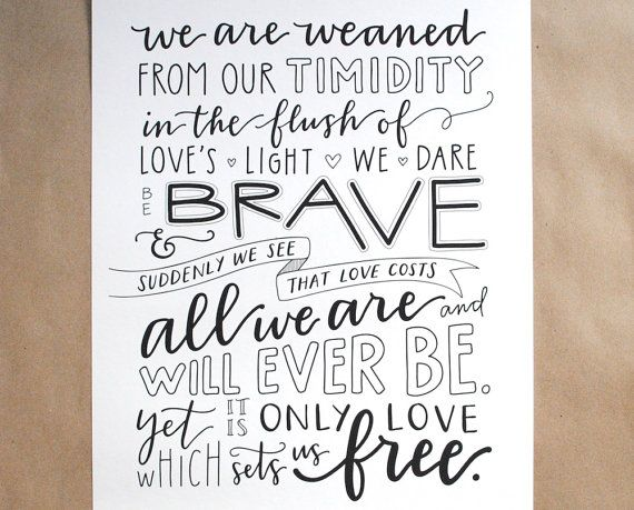 CUSTOM Hand-Lettered Quote, Maya Angelou Poem, Love Sets ...