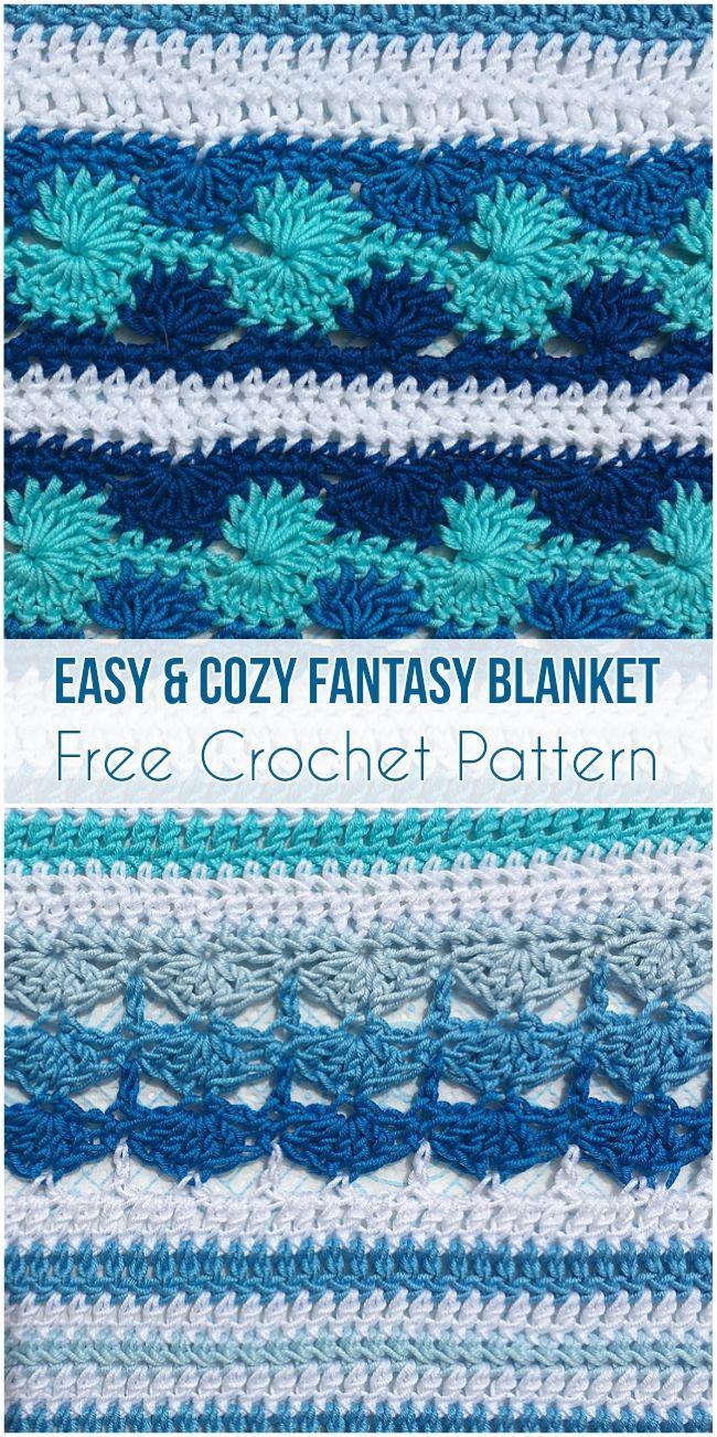 Easy & Cozy Fantasy Blanket Free Crochet Pattern ...