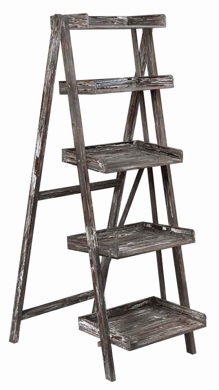 5925 Boulder Distressed Ladder Shelf