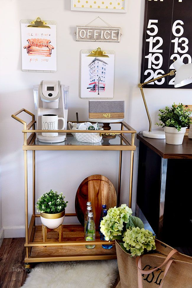 office coffee cart. Decorating A Shared Home Office | Coffee Carts, Industrial Style And Spaces Cart