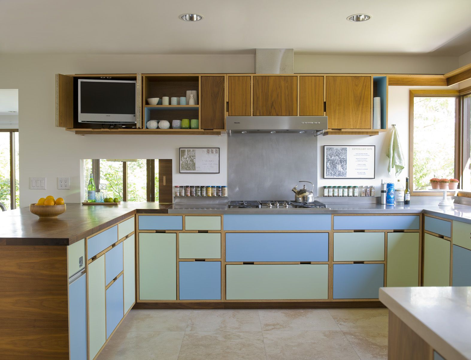 Mid Century Modern Kitchen Within Seward Park Remodel Shed Architecure Amp Design  Seattle Mid