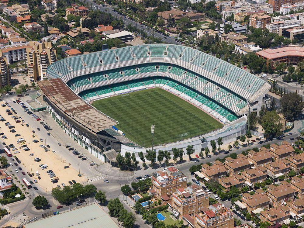 SEVILLA - Estadio Benito Villamarín (56,500)   Sports stadium, Football stadiums, Baseball park