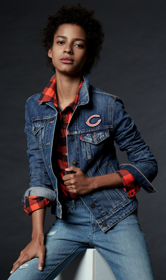 Toss on this Chicago Bears Trucker all season long. Wear your team's colors  with pride · Chicago BearsClassic StyleDenim JeansJacketPackers NflGameNfl  ...
