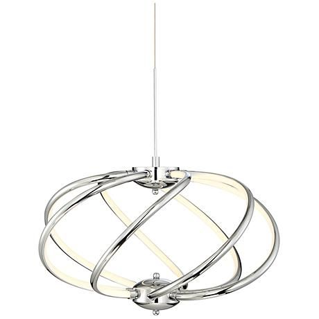 Contemporary Looks And Energy Efficiency Make This Spiraling Led Pendant Light A Great Choice