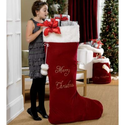 when i was in the 2nd grade i won a giant christmas stocking from the bx - Giant Christmas Stocking