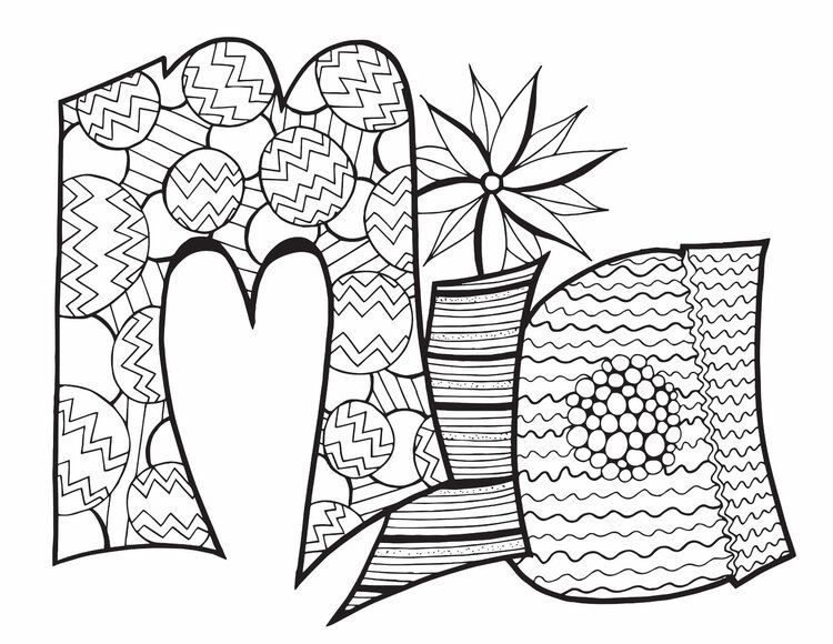 MIA CLASSIC DOODLE Free Coloring Page Free coloring