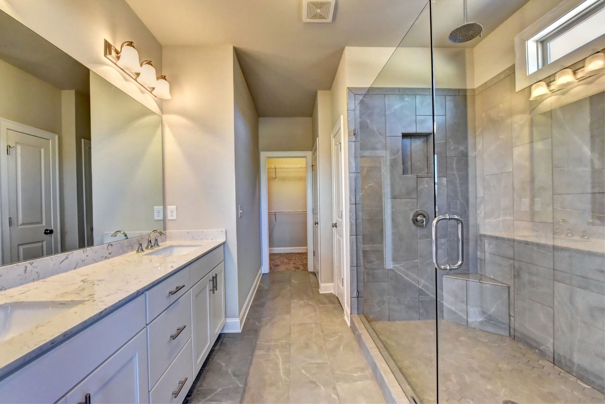 This Seymour II master bath showcases our