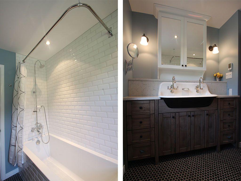 salle de bain classique champtre tuiles subway - Salle De Bain Classique