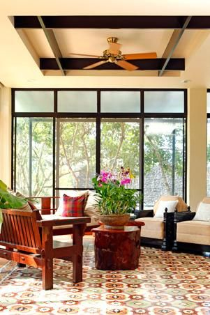 The Machuca Tile Patterns Create An Alluring Floor Design In Living Area Large Filipino Interior Also