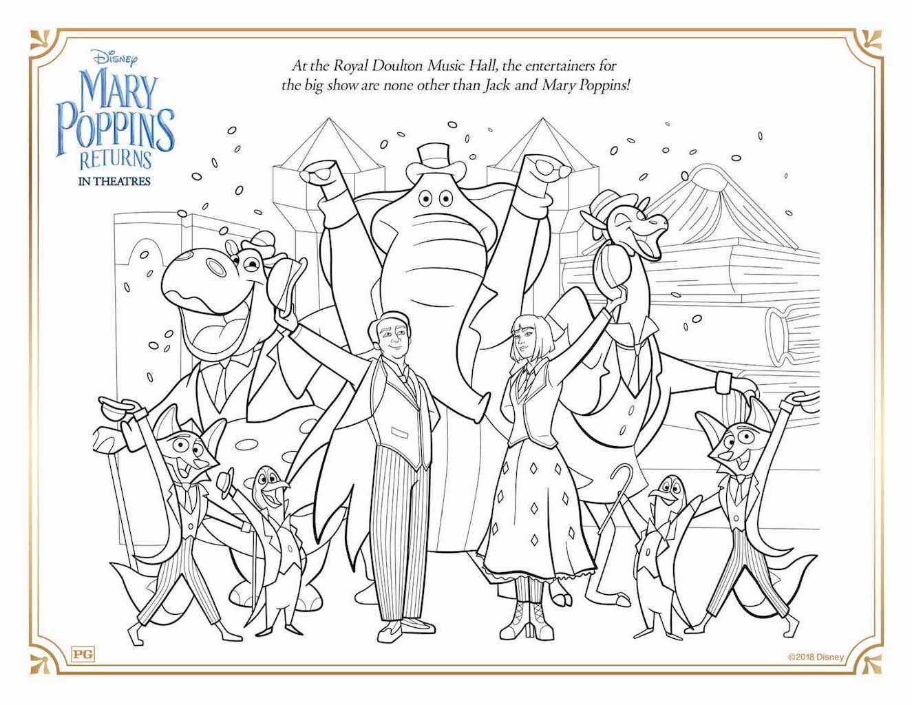 Free Printable Mary Poppins Returns Coloring Activity Sheets Coloring Pages Cartoon Coloring Pages Mary Poppins [ 1024 x 1325 Pixel ]