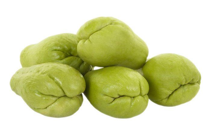 Informação Nutricional do Chuchu Cozido: Calorias, gordura total, carboidratos, fibra, proteína, zinco, fósforo, ferro, potássio, cálcio, vitaminas A, D, E