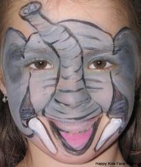 Elephant face painting | Face Paint Zoo Animals | Elephant ...