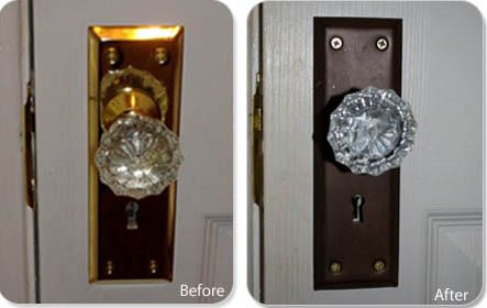How to refinish door hardware in six steps. I\'m thinking this would ...