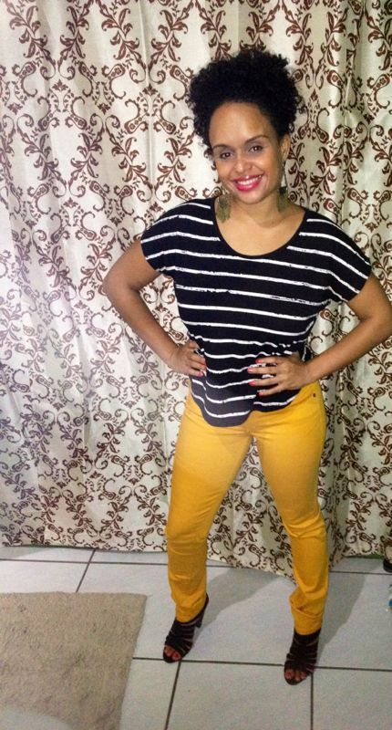 me trying the coloured jeans thing (mustard) gonna try coral next :)
